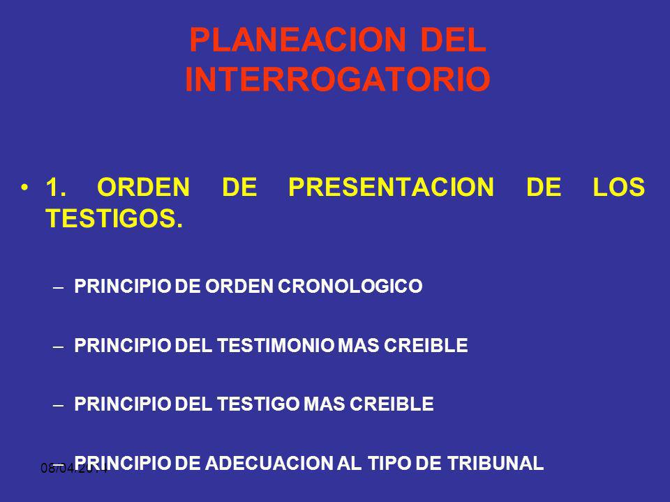 PLANEACION DEL INTERROGATORIO