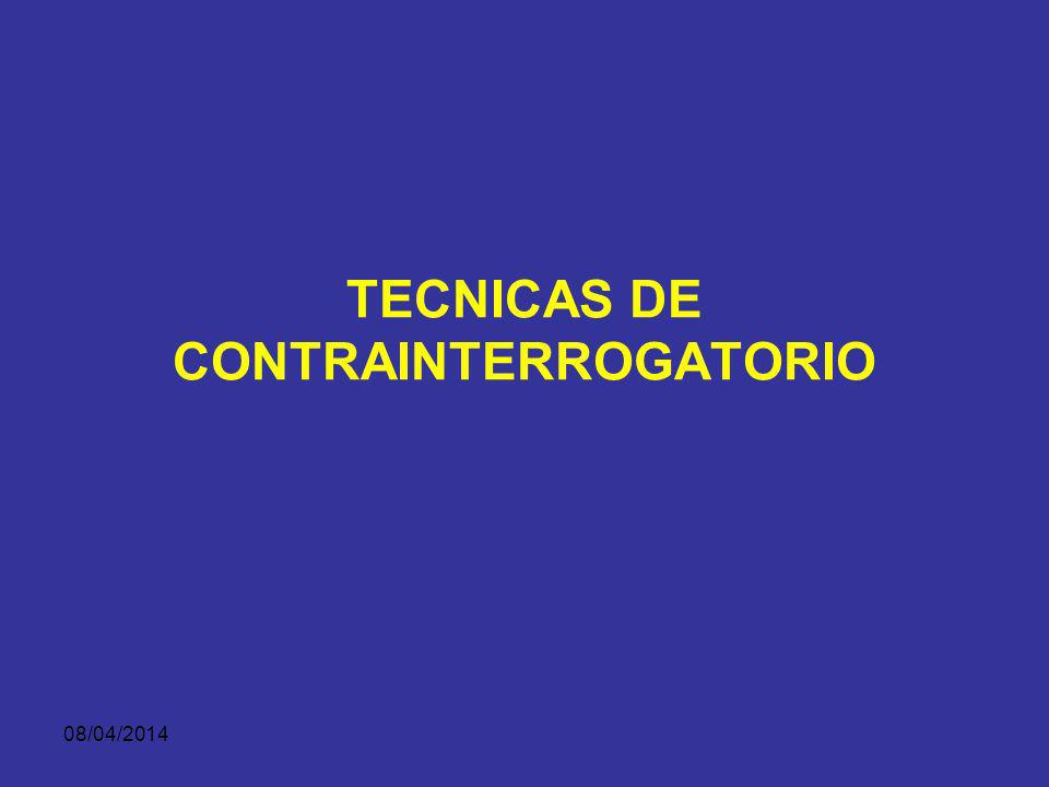 TECNICAS DE CONTRAINTERROGATORIO