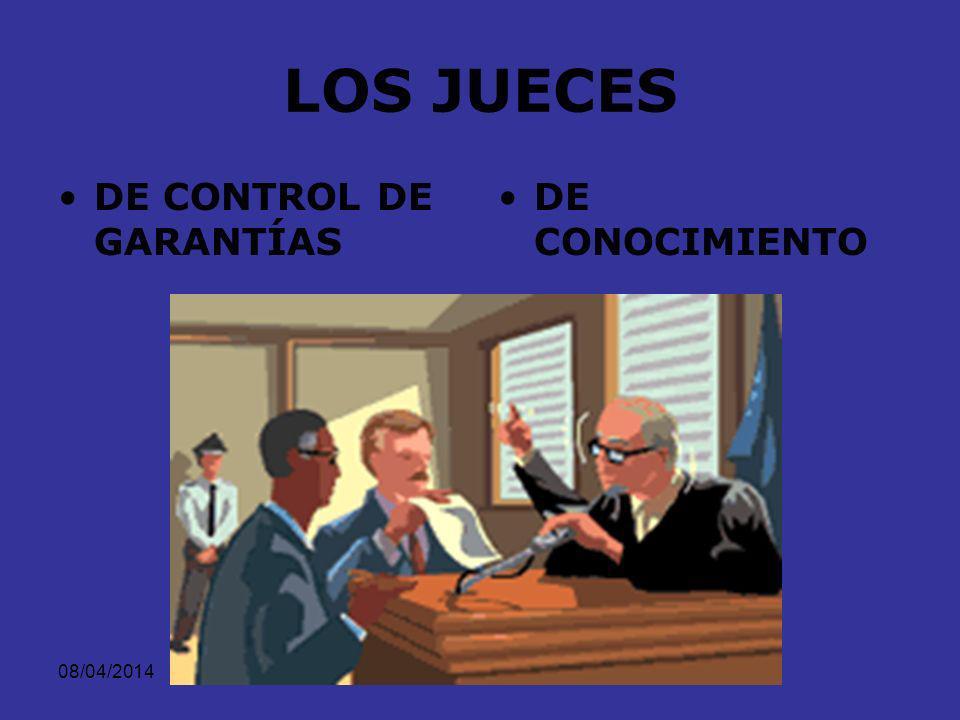 LOS JUECES DE CONTROL DE GARANTÍAS DE CONOCIMIENTO 29/03/2017