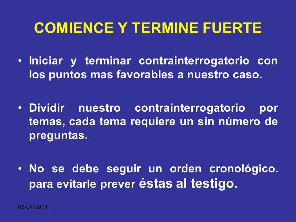 COMIENCE Y TERMINE FUERTE