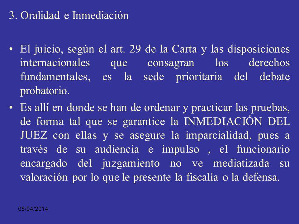 3. Oralidad e Inmediación