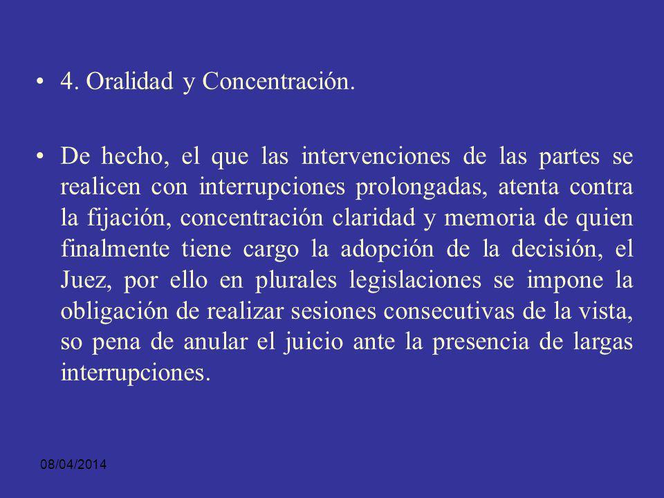 4. Oralidad y Concentración.