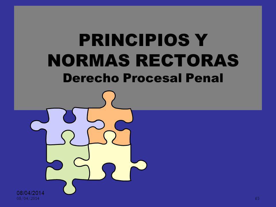 PRINCIPIOS Y NORMAS RECTORAS Derecho Procesal Penal