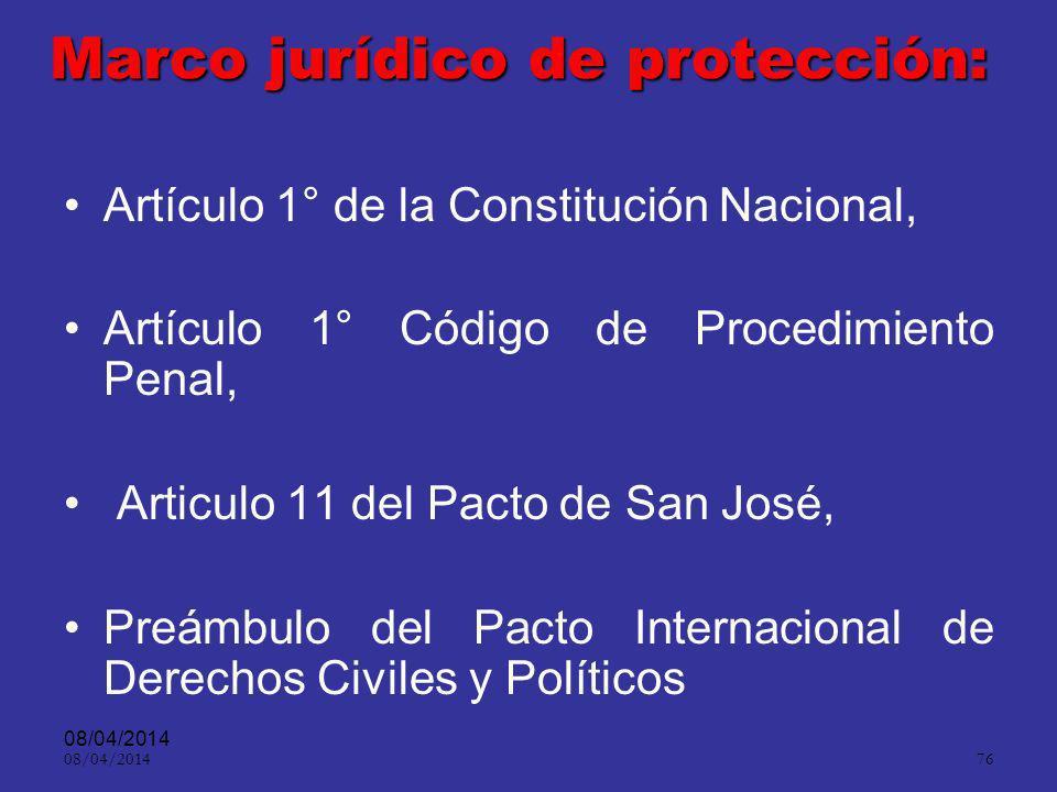 Marco jurídico de protección: