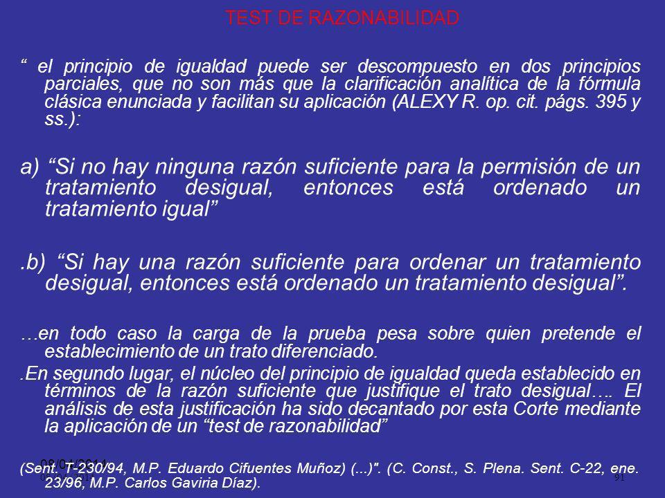 TEST DE RAZONABILIDAD