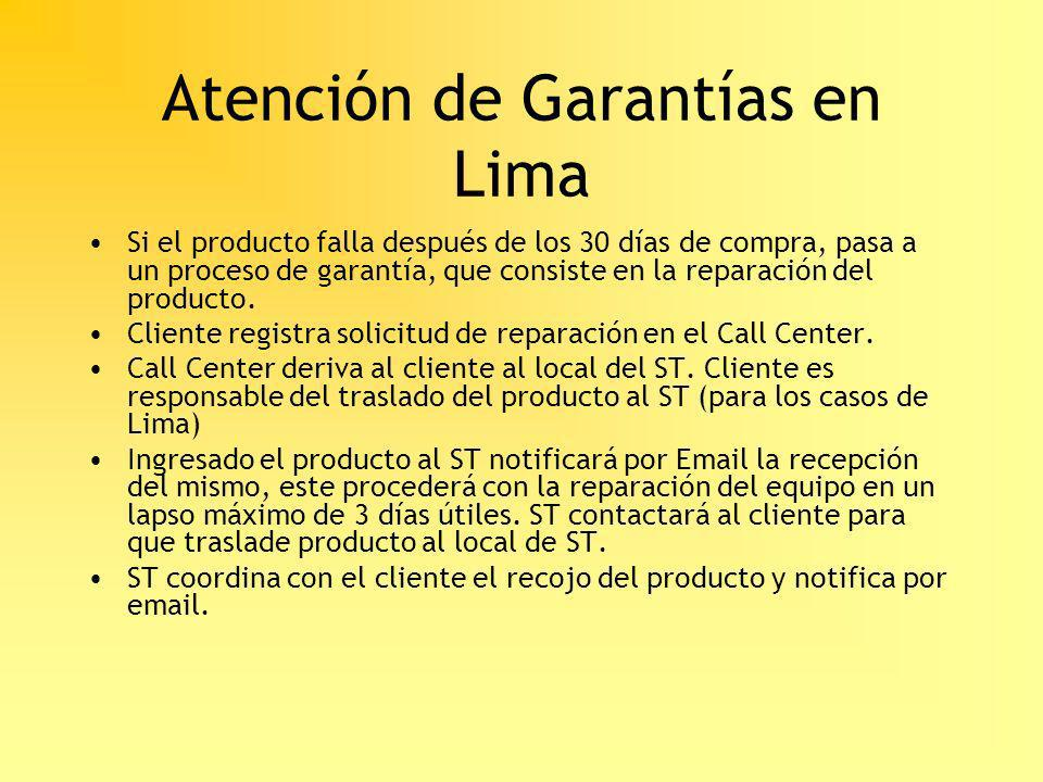 Atención de Garantías en Lima