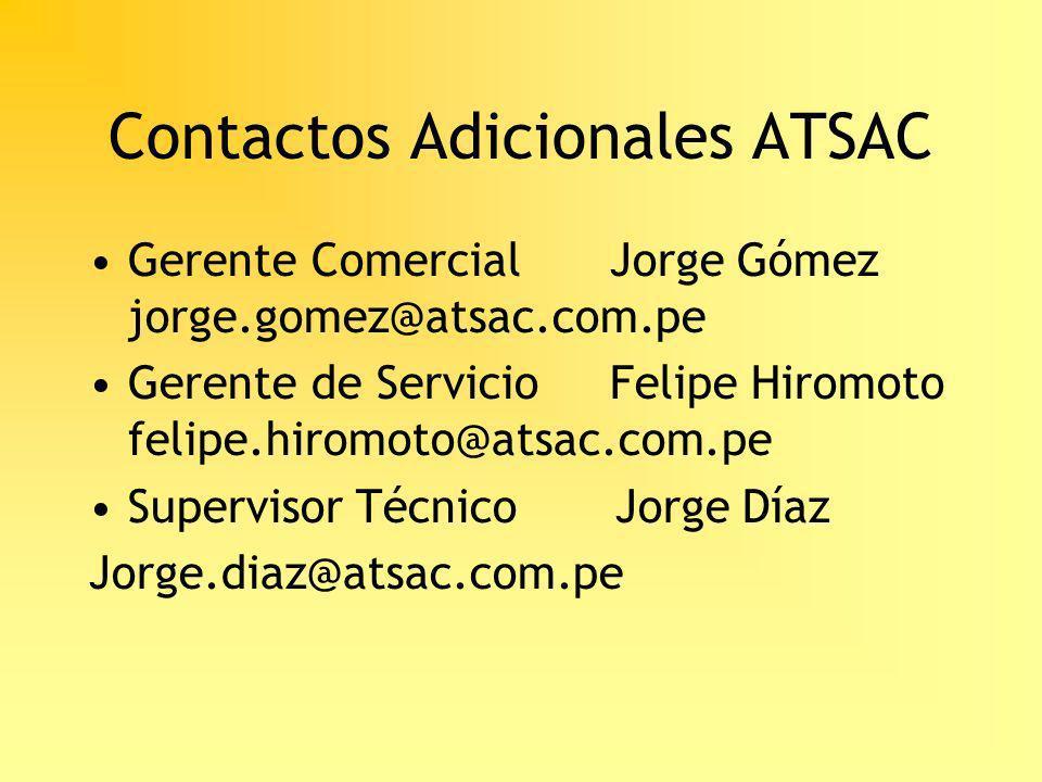 Contactos Adicionales ATSAC
