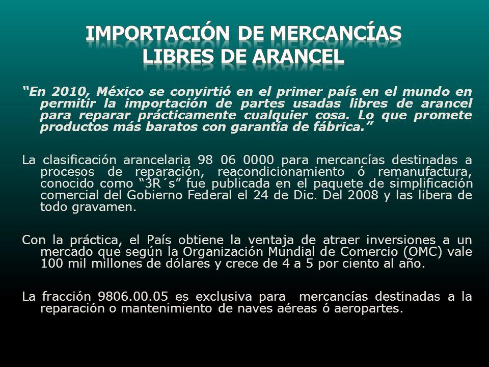 IMPORTACIÓN DE MERCANCÍAS LIBRES DE ARANCEL