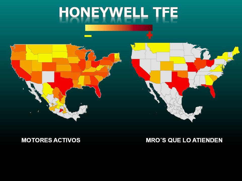 Honeywell TFE MOTORES ACTIVOS MRO´S QUE LO ATIENDEN