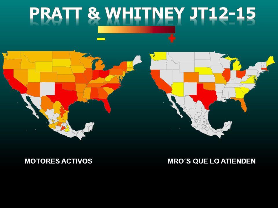 Pratt & whitney jt12-15 MOTORES ACTIVOS MRO´S QUE LO ATIENDEN