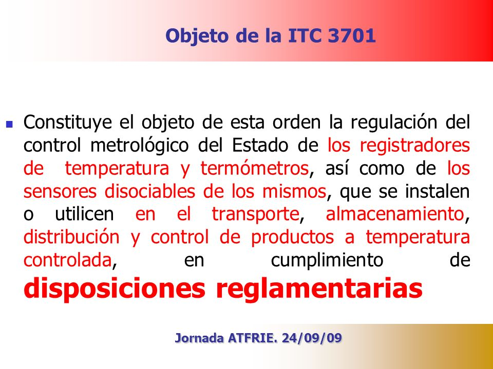 Objeto de la ITC 3701