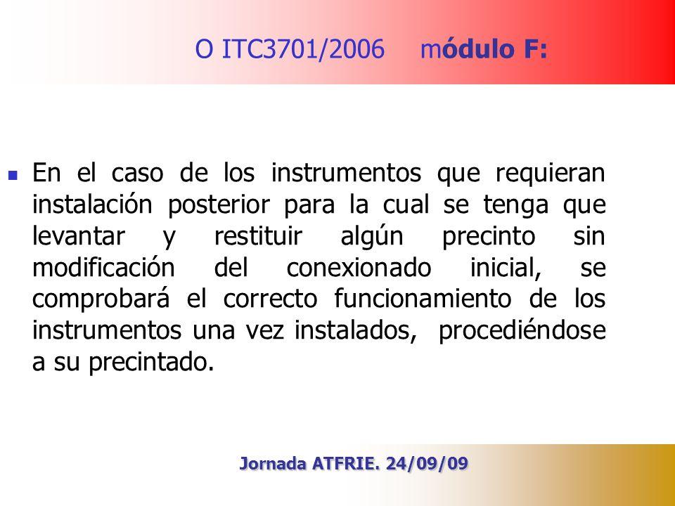 O ITC3701/2006 módulo F:
