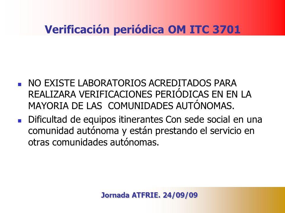 Verificación periódica OM ITC 3701