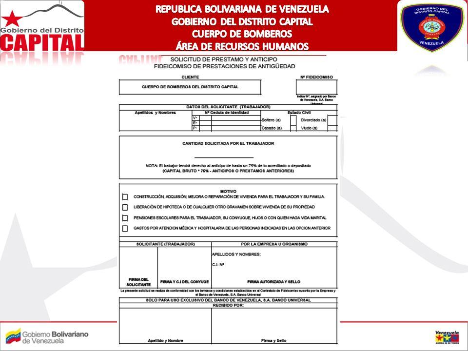 REPUBLICA BOLIVARIANA DE VENEZUELA GOBIERNO DEL DISTRITO CAPITAL