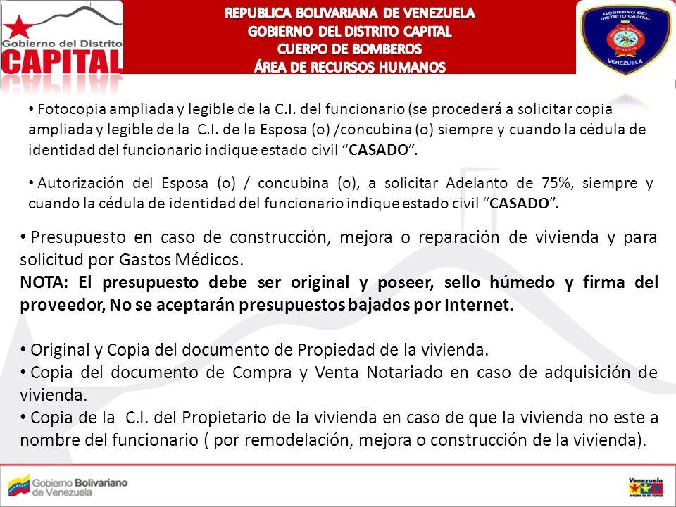 Original y Copia del documento de Propiedad de la vivienda.