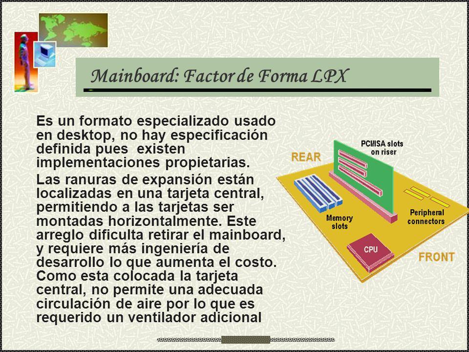Mainboard: Factor de Forma LPX