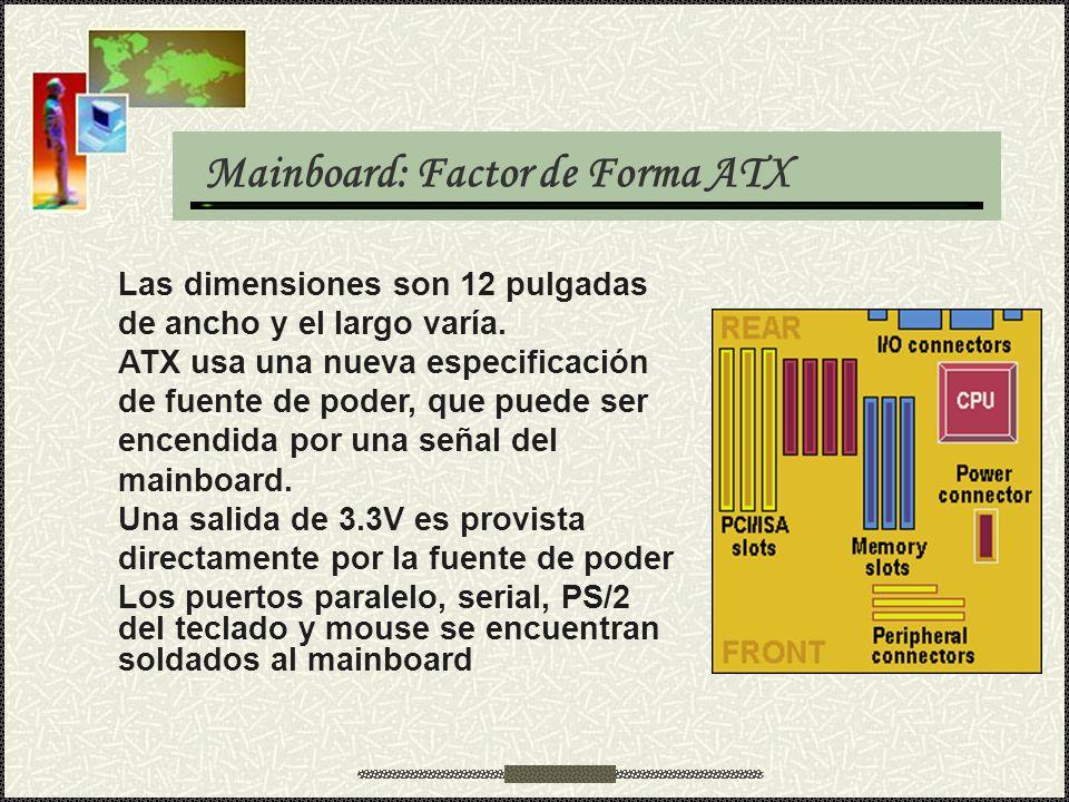 Mainboard: Factor de Forma ATX