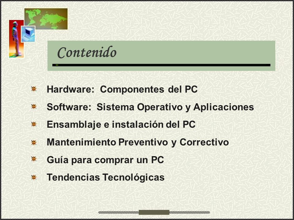 Contenido Hardware: Componentes del PC