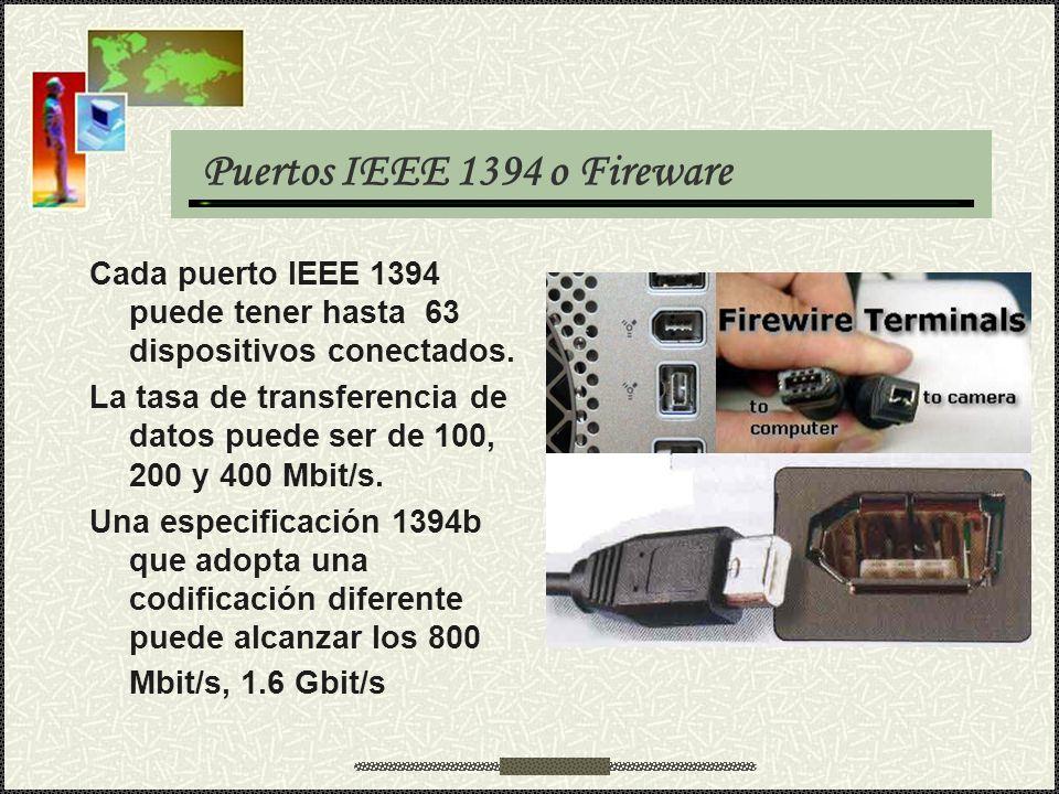Puertos IEEE 1394 o Fireware