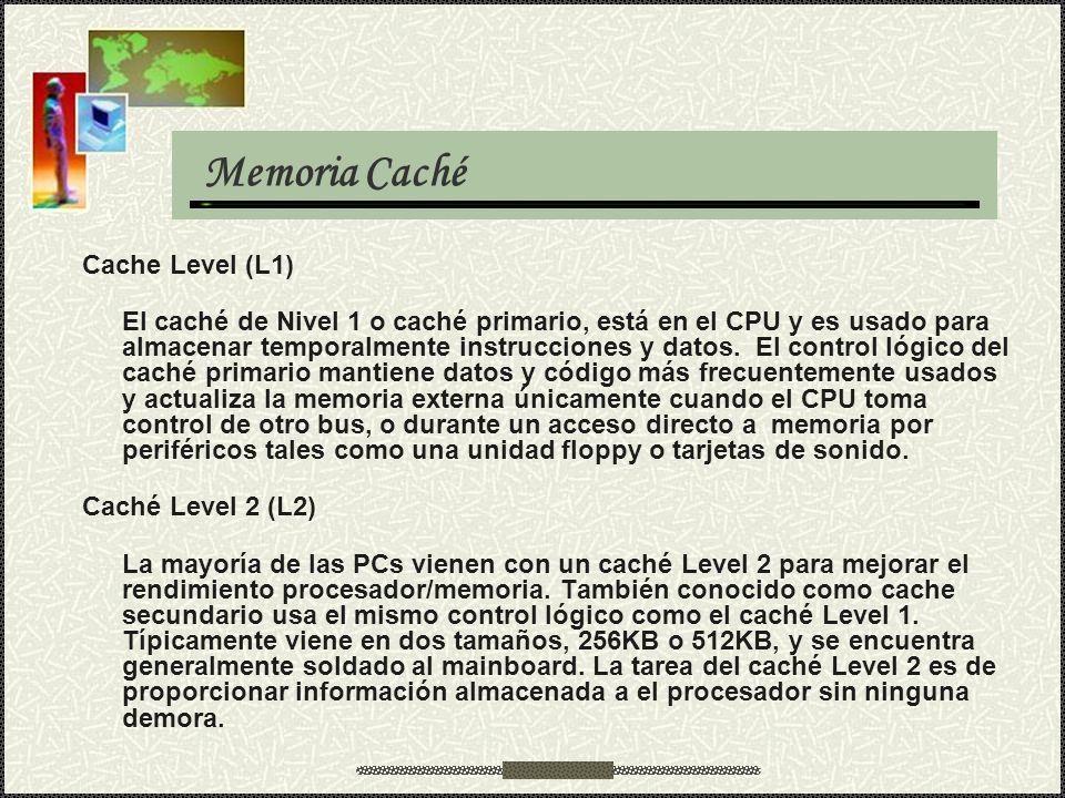 Memoria Caché Cache Level (L1)
