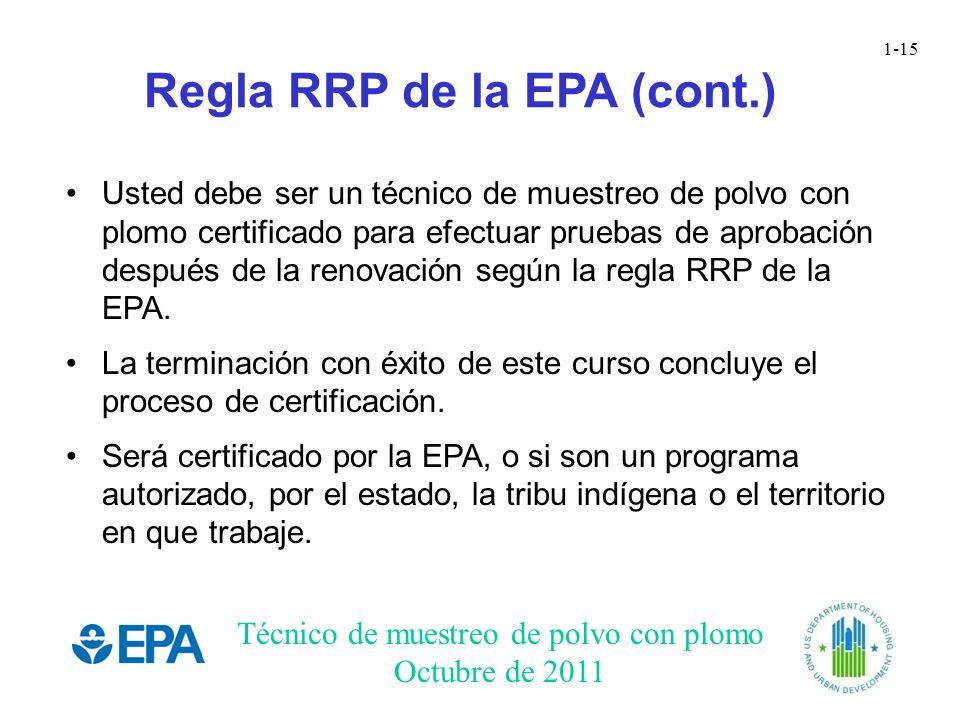 Regla RRP de la EPA (cont.)