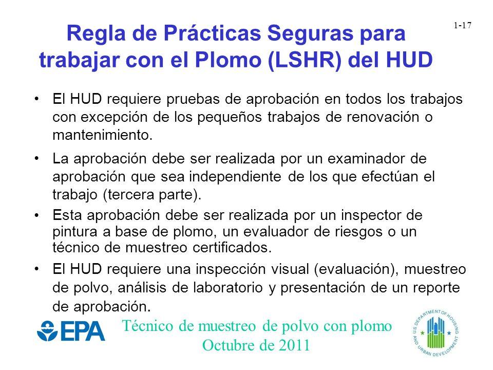 Regla de Prácticas Seguras para trabajar con el Plomo (LSHR) del HUD