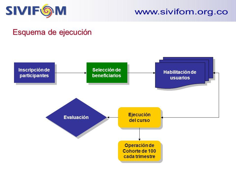 www.sivifom.org.co Esquema de ejecución Habilitación de usuarios