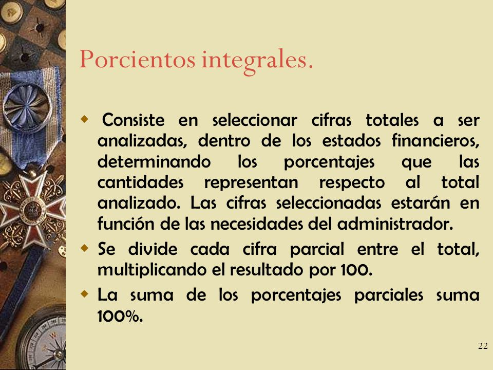 Porcientos integrales.
