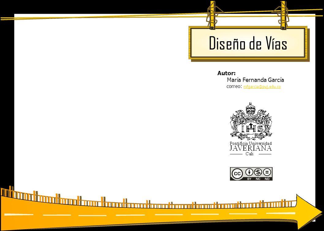 Diseño de Vías Autor: María Fernanda García