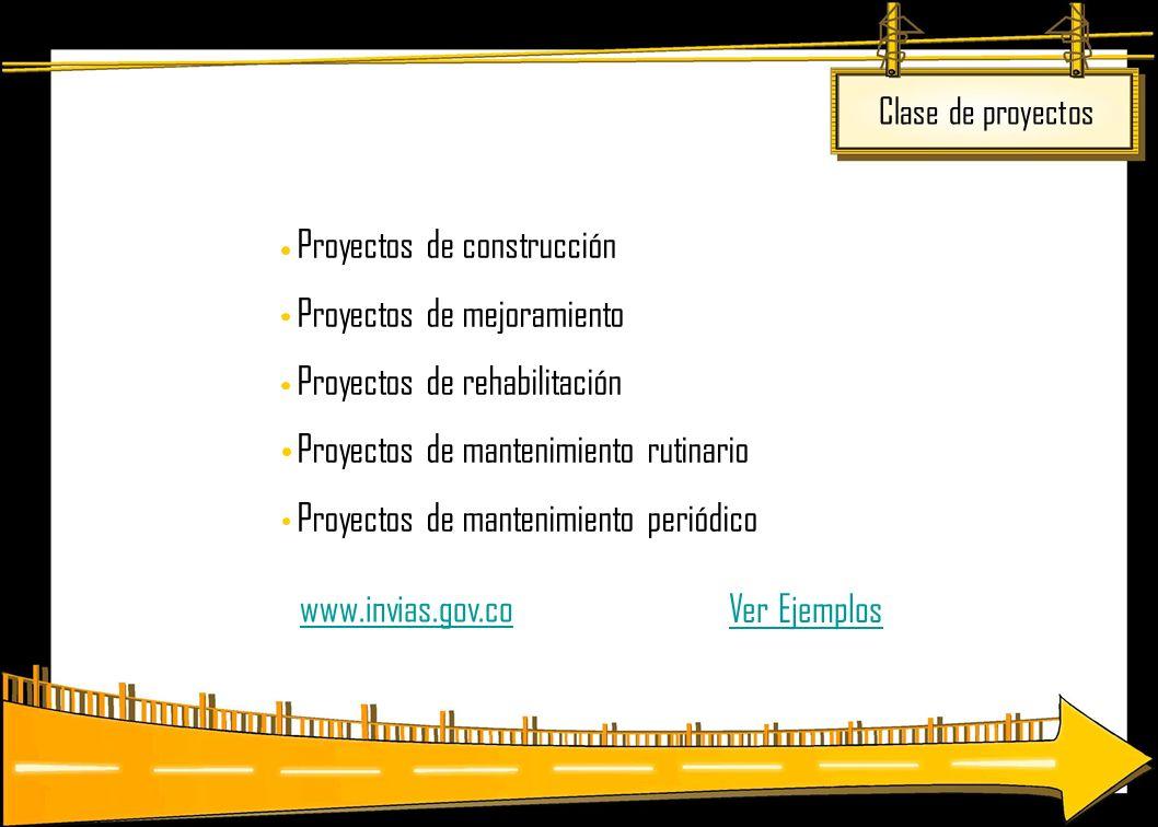 www.invias.gov.co Ver Ejemplos Clase de proyectos