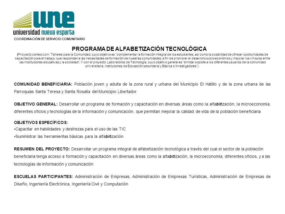 Programa de Alfabetización Tecnológica