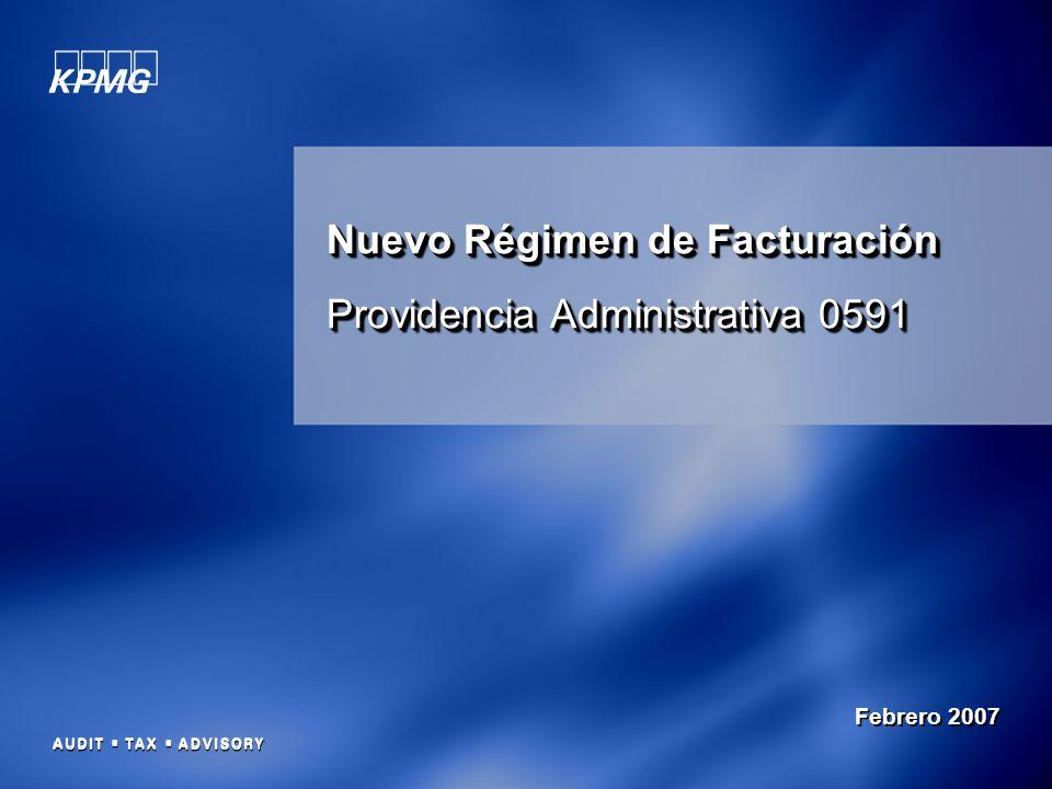 Nuevo Régimen de Facturación Providencia Administrativa 0591