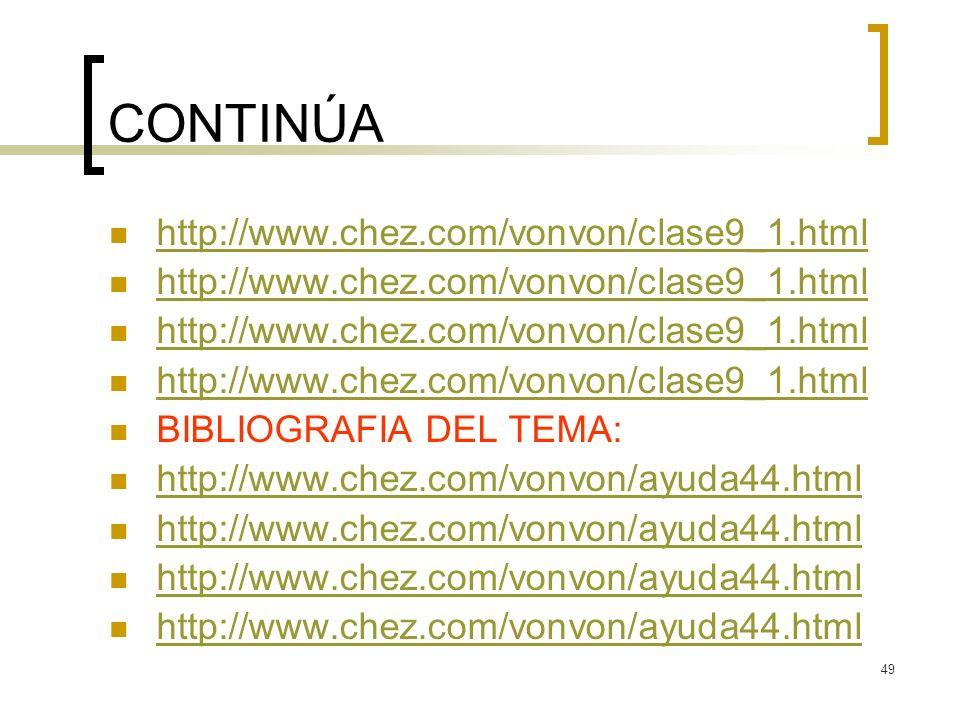 CONTINÚA http://www.chez.com/vonvon/clase9_1.html