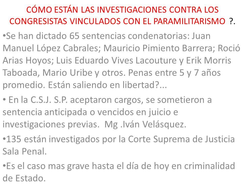 135 están investigados por la Corte Suprema de Justicia Sala Penal.