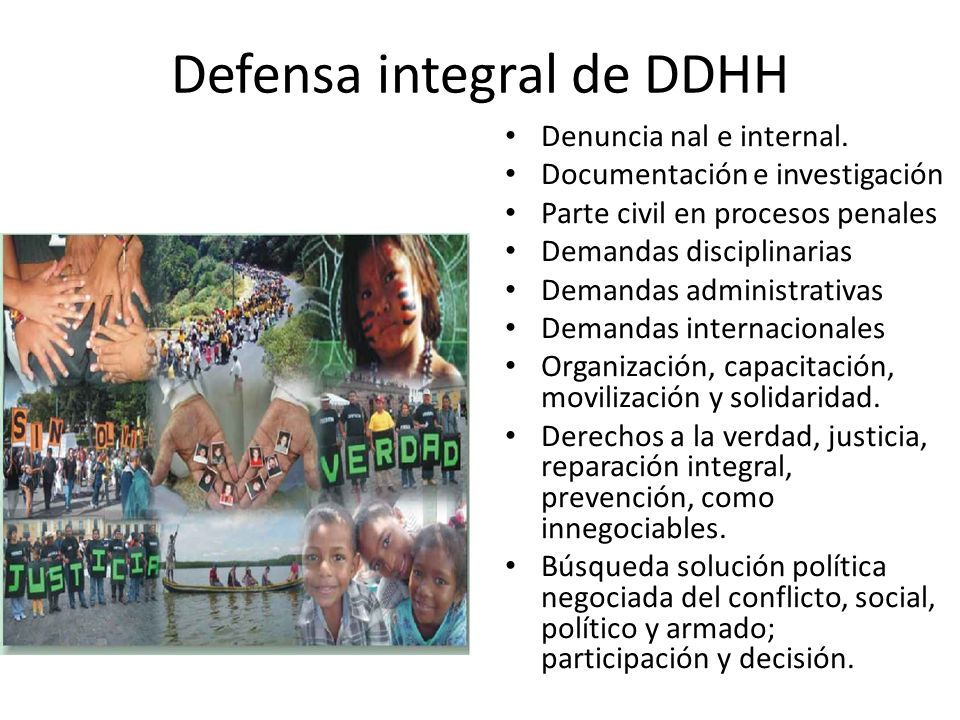 Defensa integral de DDHH