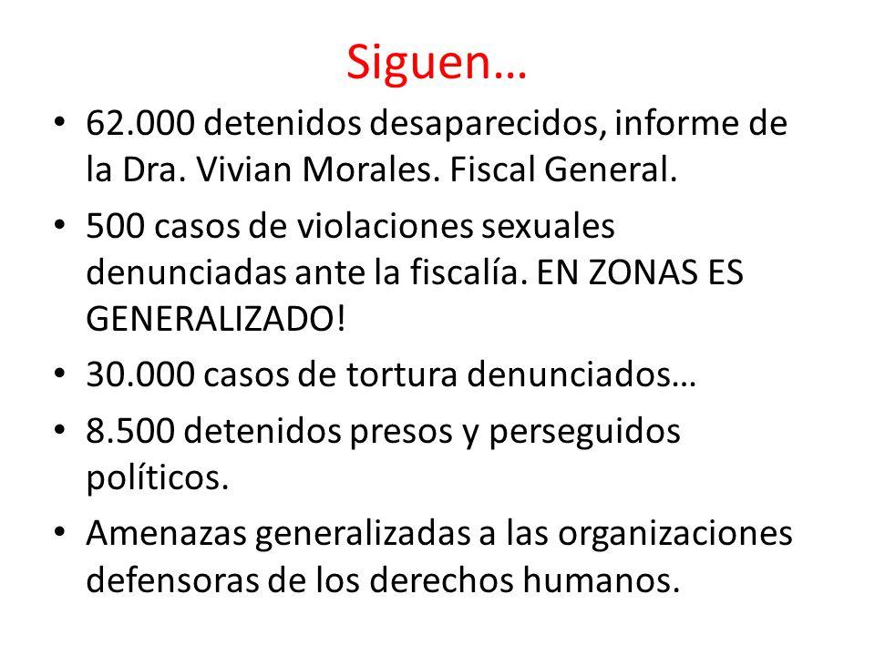 Siguen… 62.000 detenidos desaparecidos, informe de la Dra. Vivian Morales. Fiscal General.