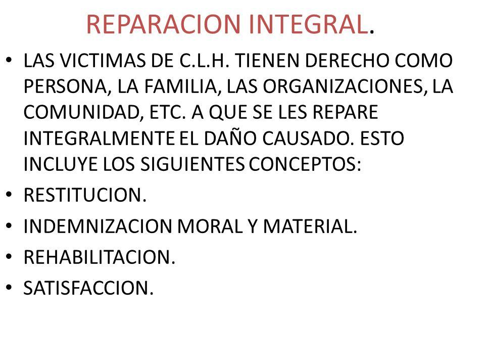 REPARACION INTEGRAL.