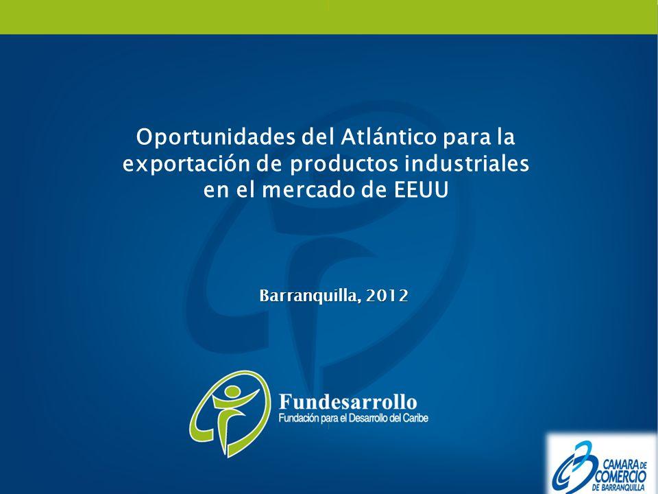 Oportunidades del Atlántico para la exportación de productos industriales en el mercado de EEUU