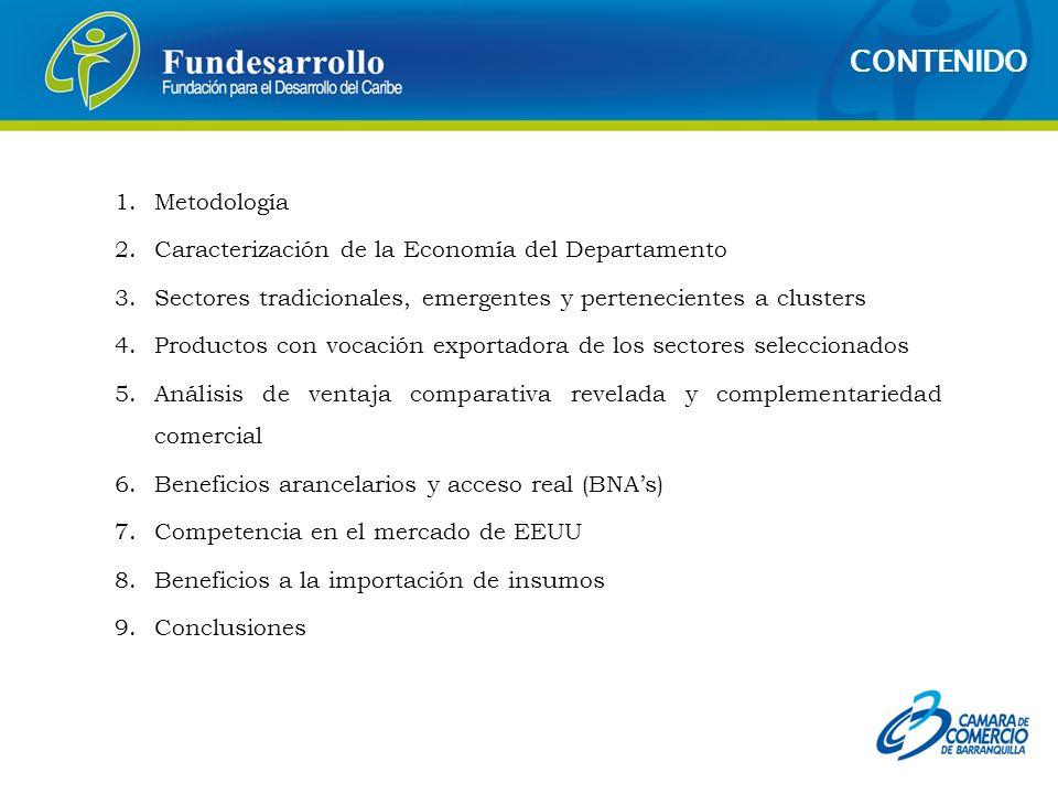 CONTENIDO Metodología Caracterización de la Economía del Departamento