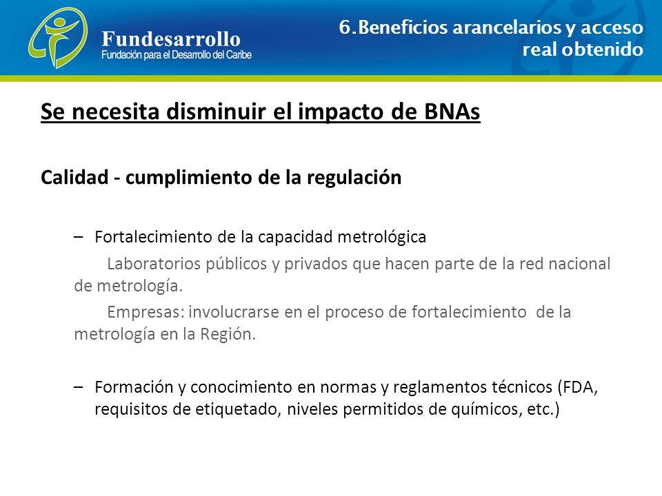 Se necesita disminuir el impacto de BNAs
