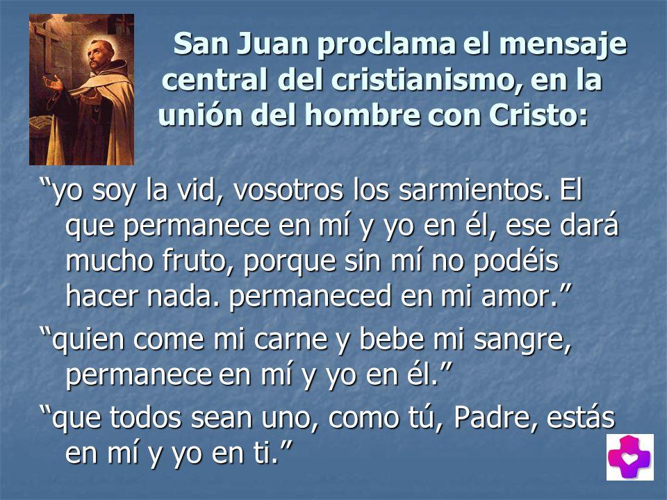 San Juan proclama el mensaje. central. del cristianismo, en la
