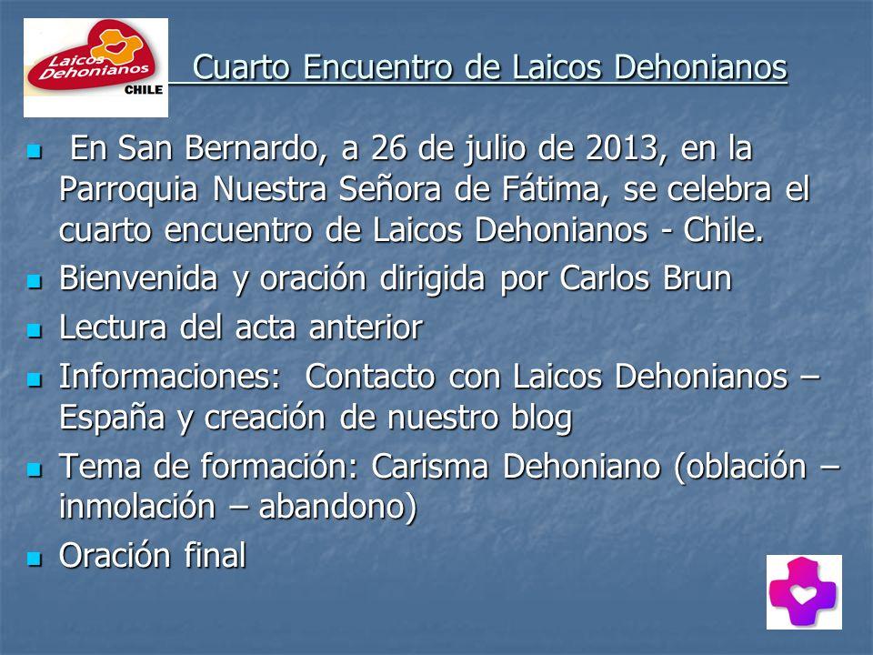 Cuarto Encuentro de Laicos Dehonianos