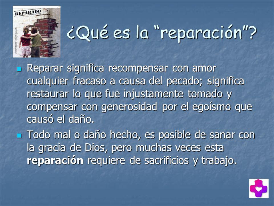 ¿Qué es la reparación
