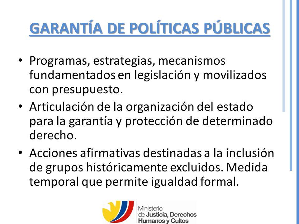 GARANTÍA DE POLÍTICAS PÚBLICAS