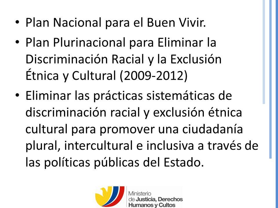 Plan Nacional para el Buen Vivir.