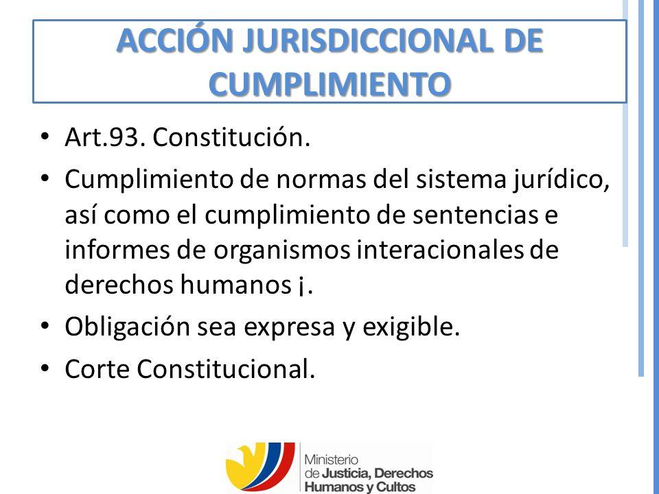 ACCIÓN JURISDICCIONAL DE CUMPLIMIENTO