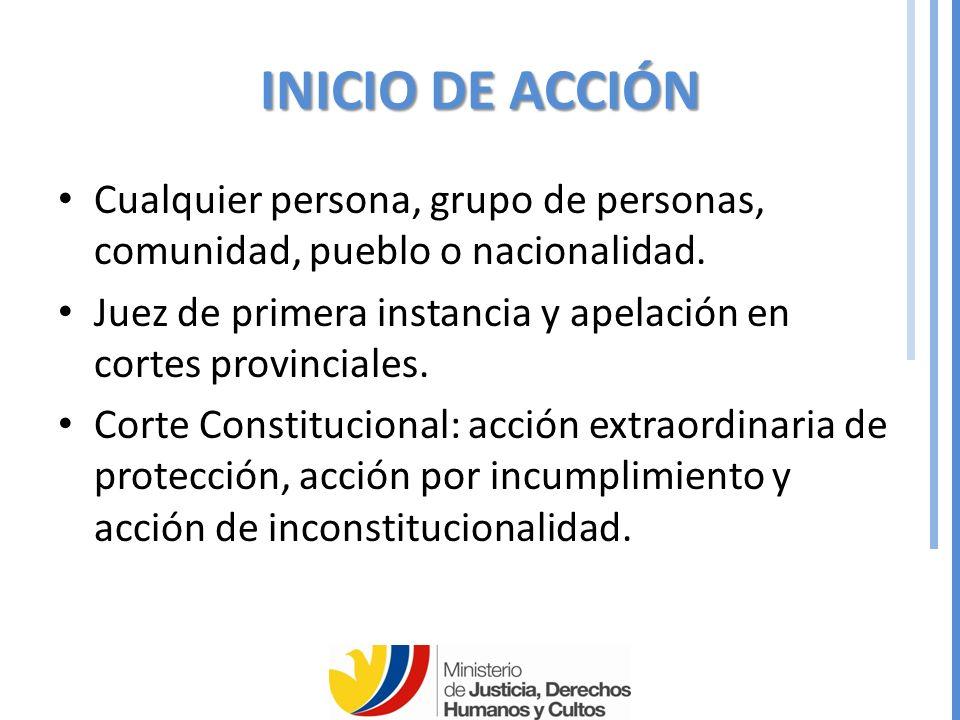 INICIO DE ACCIÓN Cualquier persona, grupo de personas, comunidad, pueblo o nacionalidad.