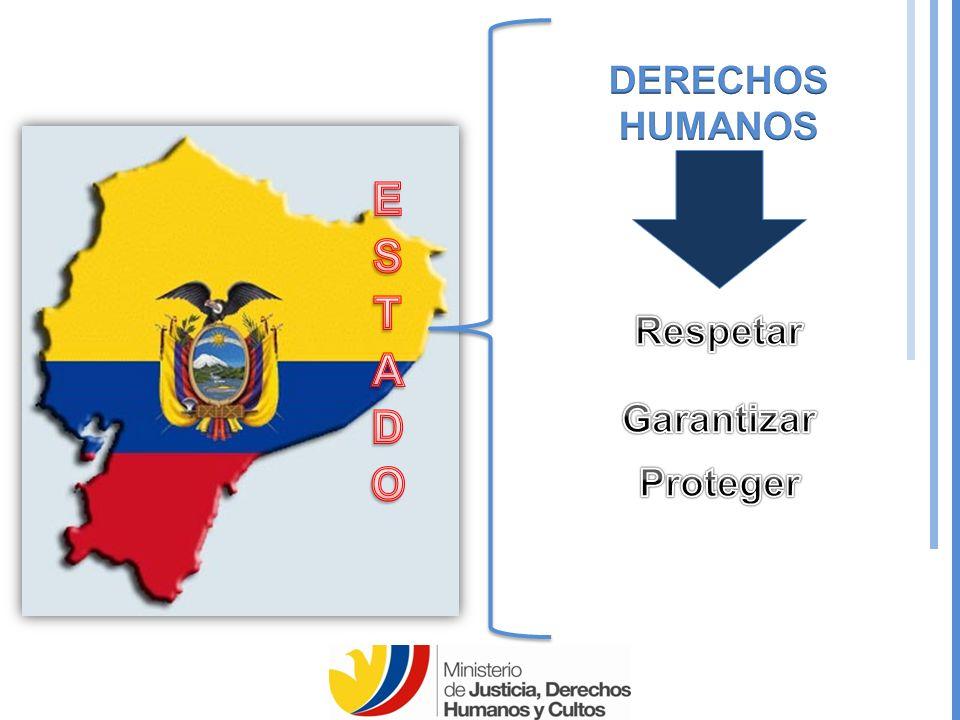 DERECHOS HUMANOS ESTADO Respetar Garantizar Proteger