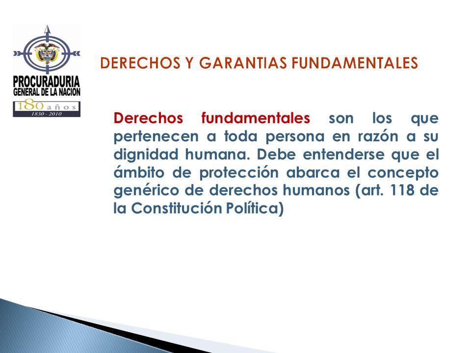DERECHOS Y GARANTIAS FUNDAMENTALES