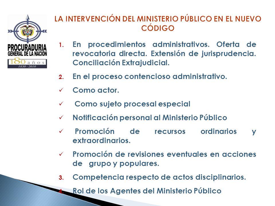 LA INTERVENCIÓN DEL MINISTERIO PÚBLICO EN EL NUEVO CÓDIGO